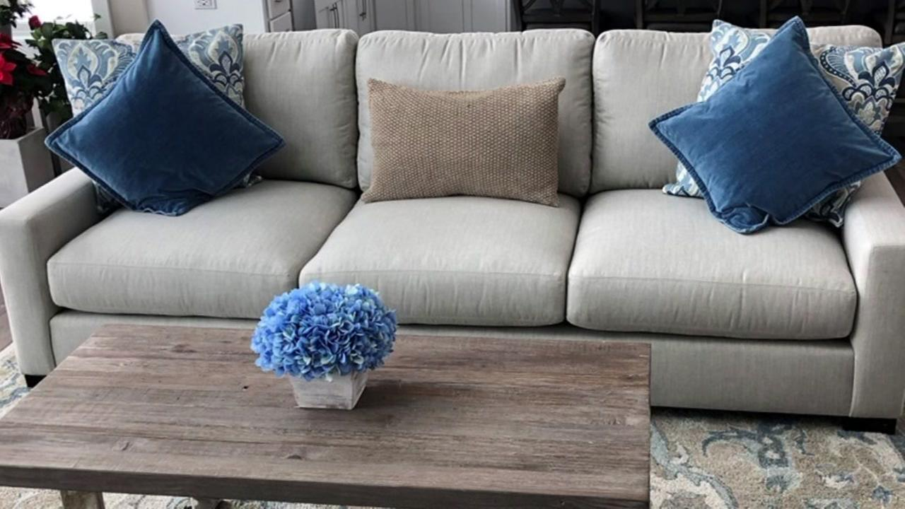 This is an undated image of a couch from Pottery Barn.