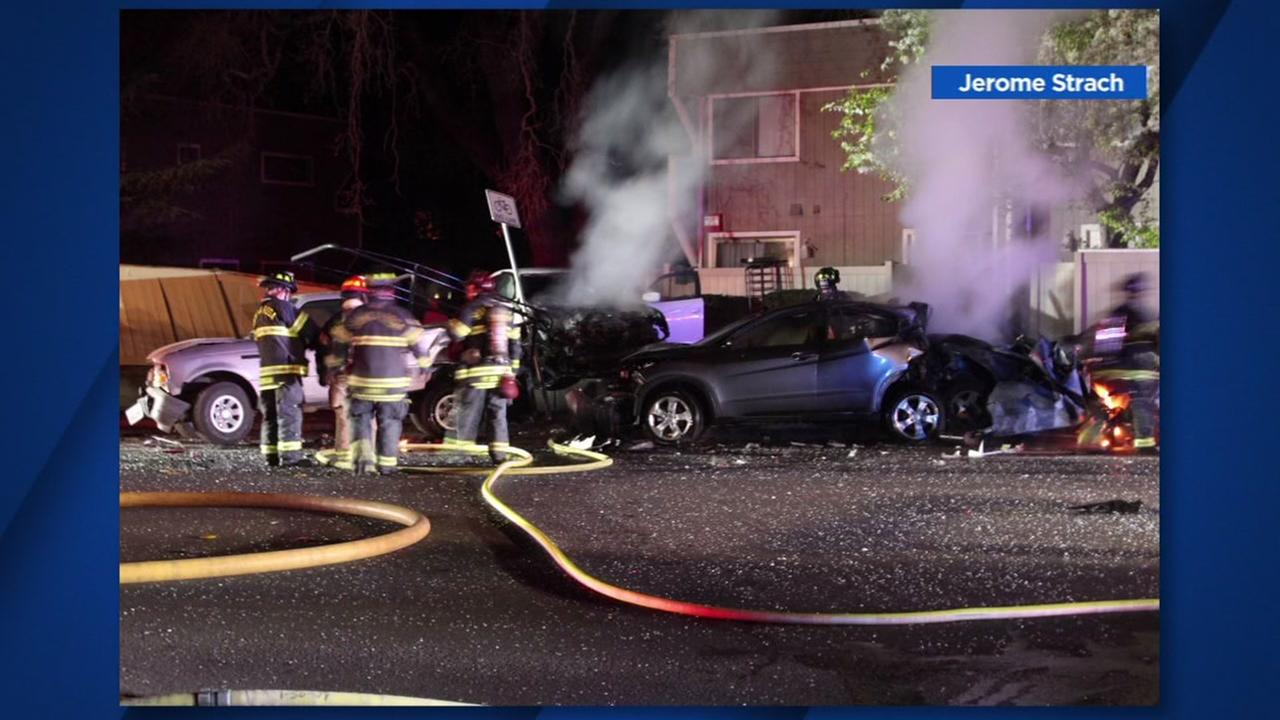 Crash in Santa Rosa, California, Friday, February 16, 2018.