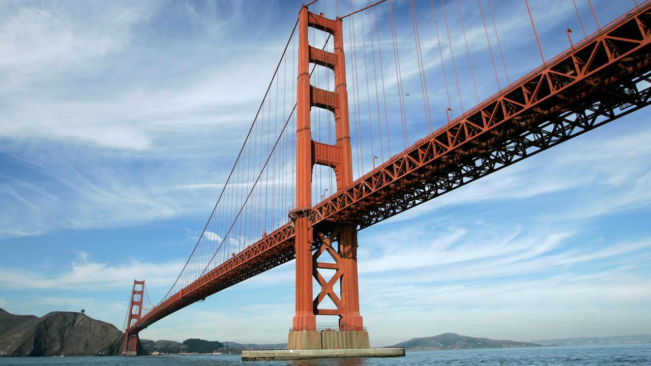 FILE - In this file photo from Nov. 15, 2006, the Golden Gate Bridge is shown in San Francisco. (AP Photo/Eric Risberg, File)
