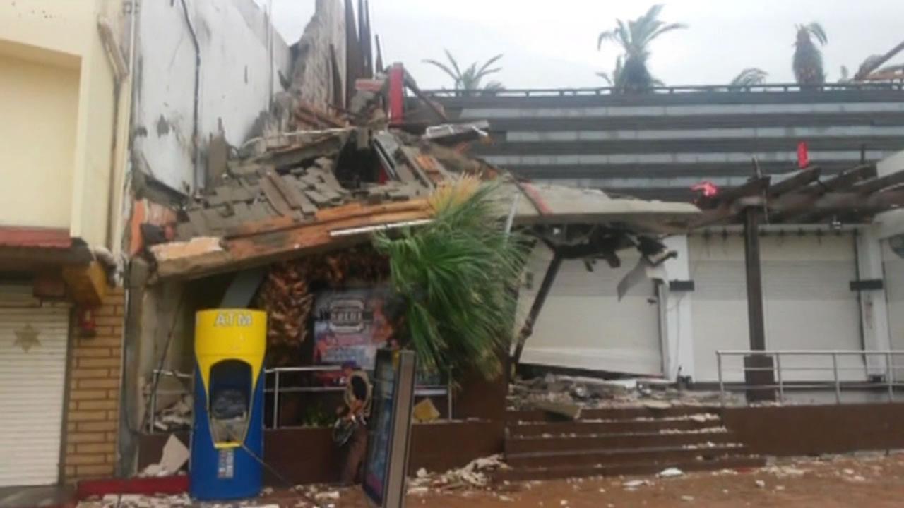 Hurricane Odile hits the Baja Peninsula.
