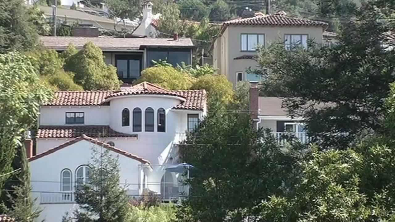 Homes in the Oakland Hills.