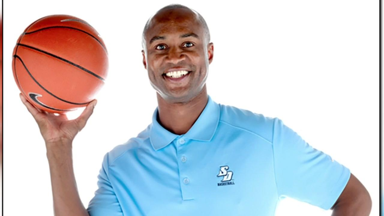 University of San Diego basketball coach LaMont Smith is seen in this undated image.
