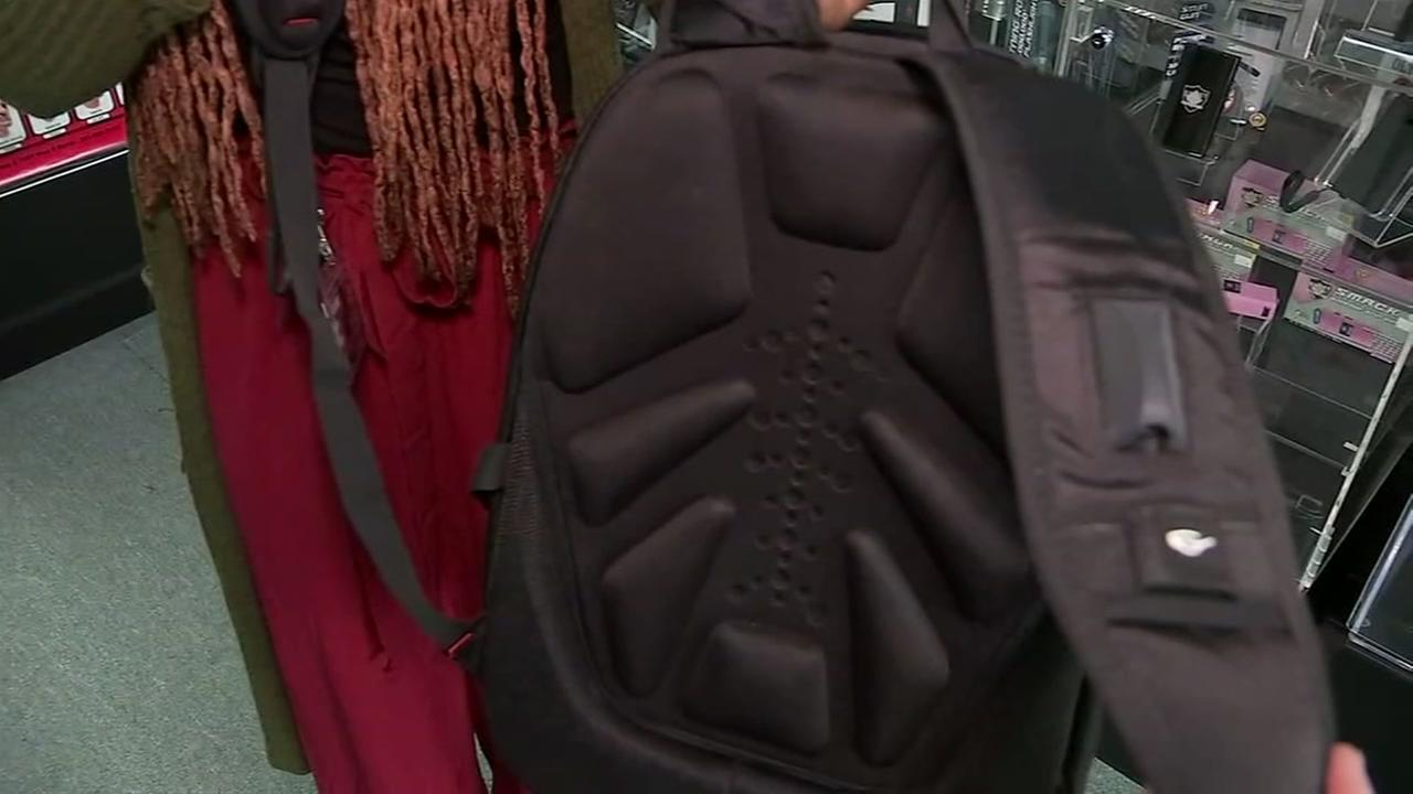 A bulletproof backpack is seen in this undated image.