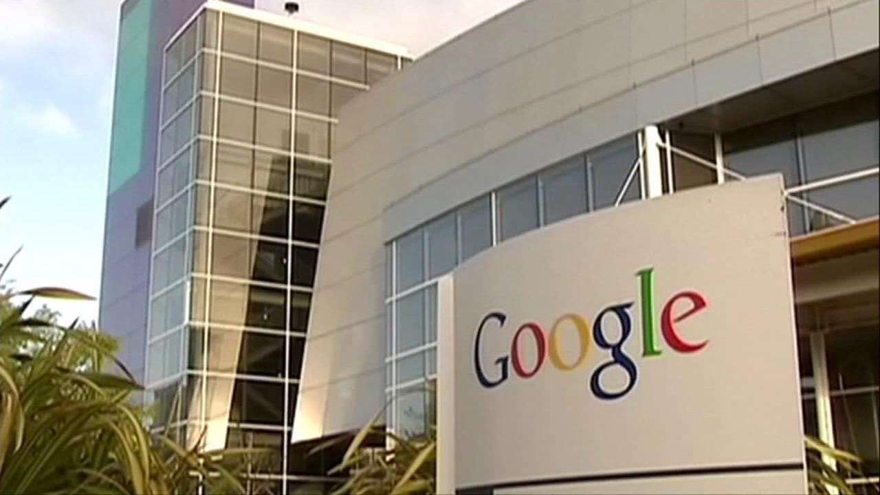 This is an undated image of the exterior of a Google campus.