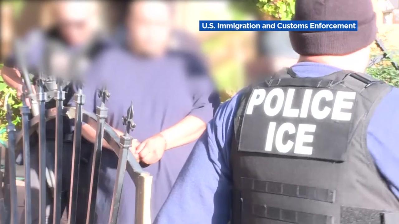 This is an undated image from an ICE raid in Southern California.