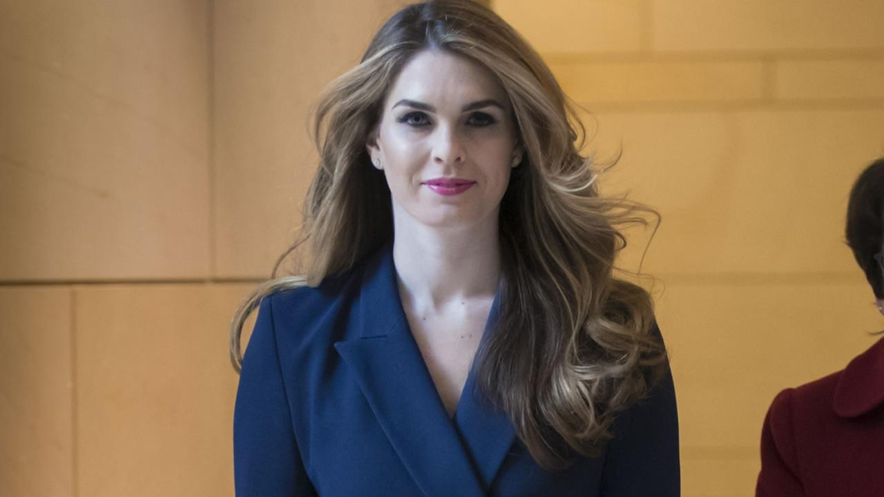 White House Communications Director Hope Hicks arrives at the Capitol in Washington, Tuesday, Feb. 27, 2018. (AP Photo/J. Scott Applewhite)