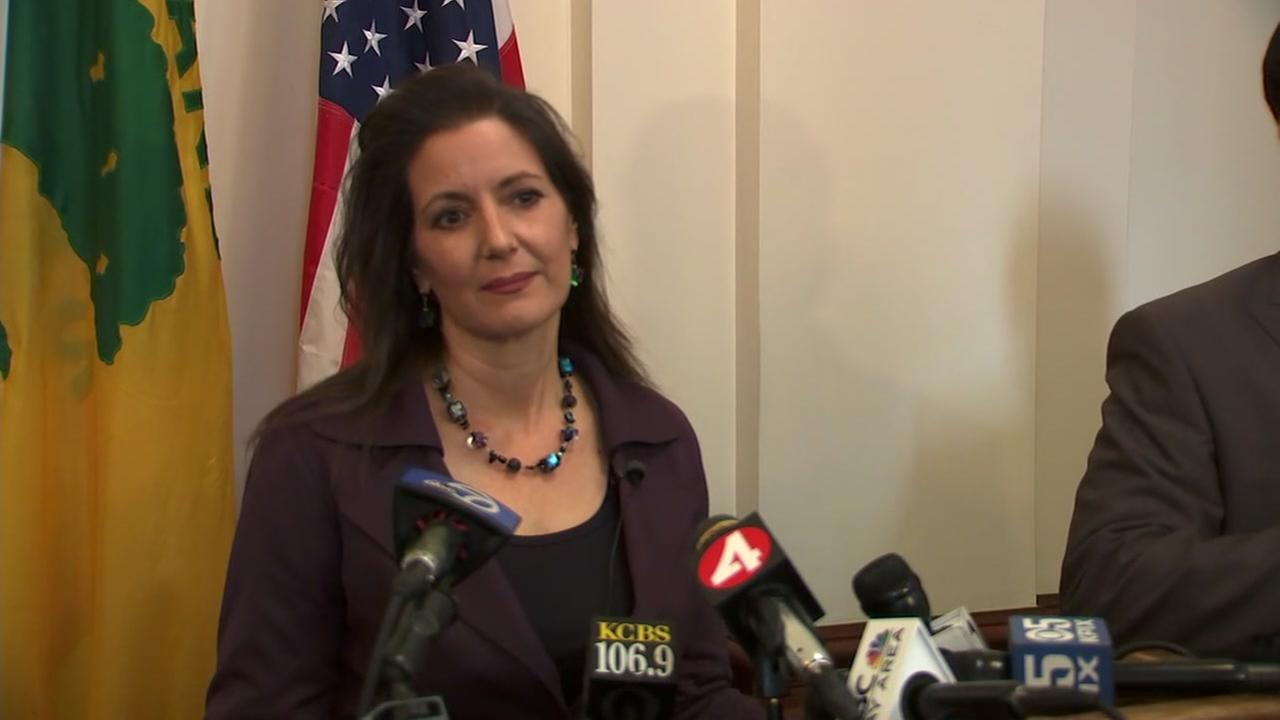 Oakland Mayor Libby Schaaf holds a press conference on her ICE comments on Wednesday, Feb. 28, 2018.