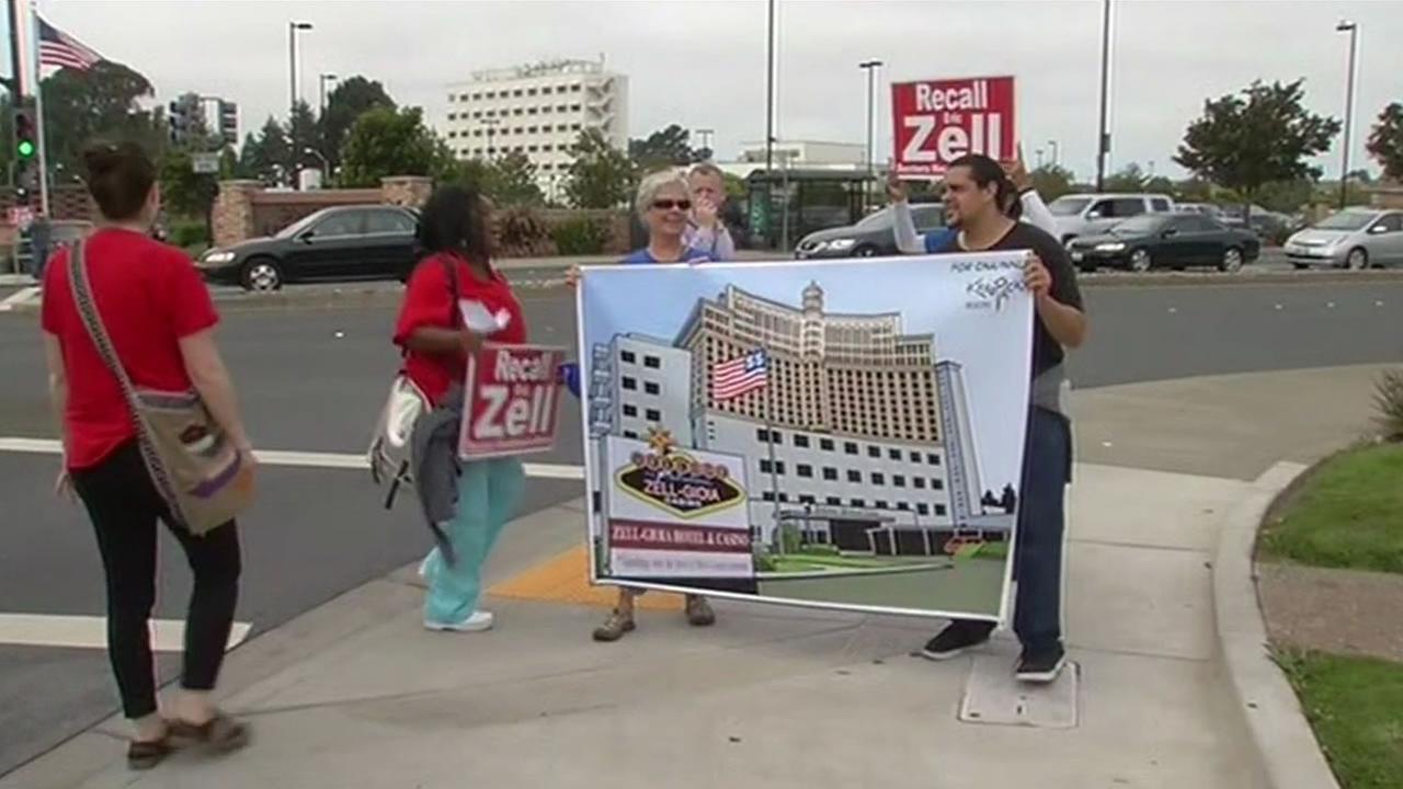 Activists protest
