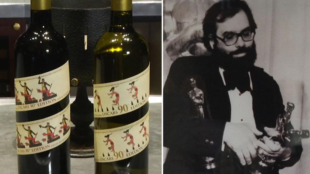 The winery owned by director Francis Ford Coppola has unveiled two new wines to be poured exclusively at the Oscars and the Governors Ball on Sunday, March 4, 2018.