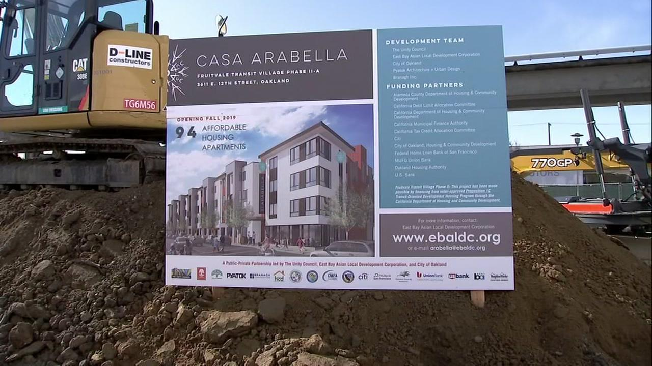 A new development in Oakland appears in this undated image.