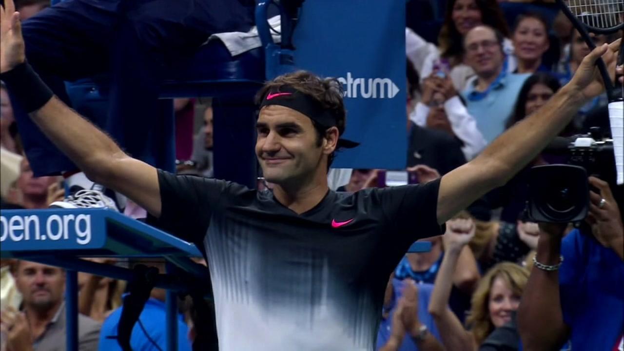 Roger Federer celebrates in this undated image.