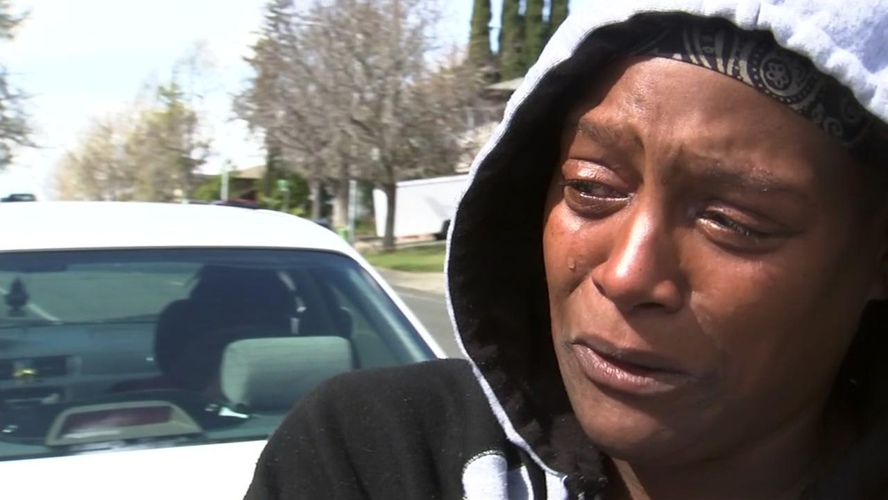Twannette Palmer gives an emotional interview to ABC7 News on Thursday, March 8, 2018 about a family friend who was killed in a hit-and-run crash.