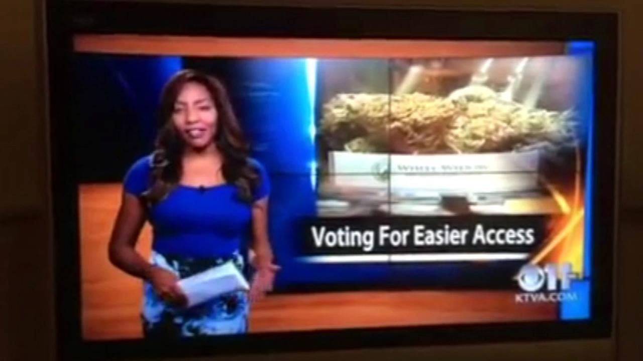 Alaska TV reporter Charlo Greene revealed she owns a medical marijuana business and quit on air.