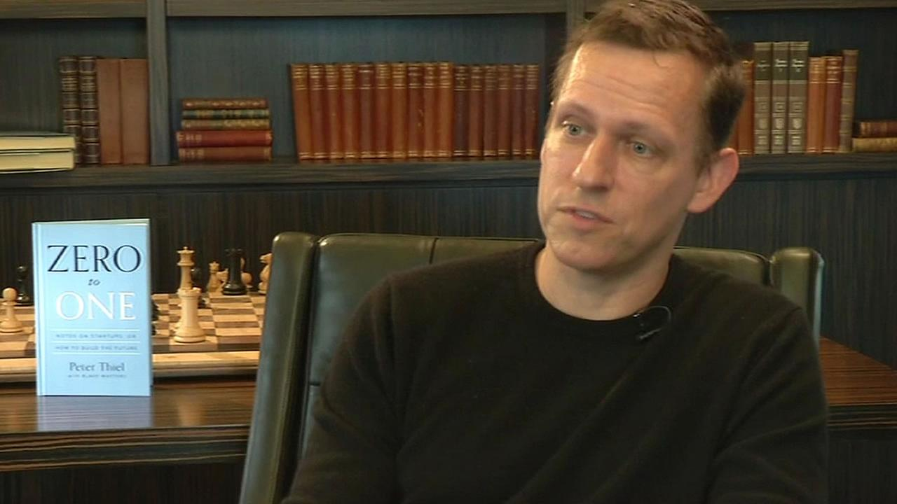 Peter Thiel in an ABC7 News interview in San Francisco
