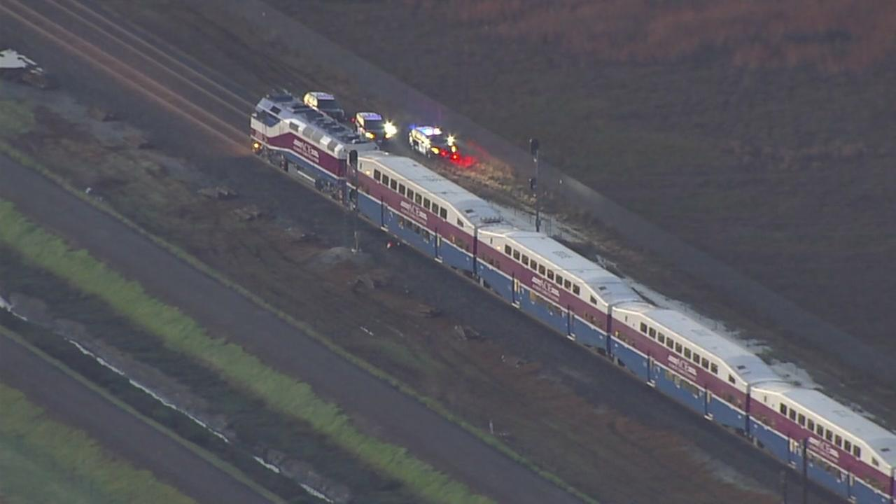 Accident involving ACE train and vehicle in Fremont, California on Monday, March 12, 2018.