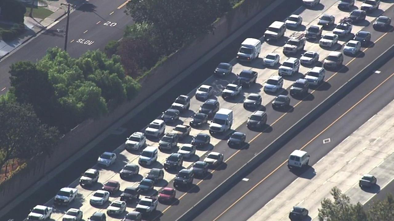 Traffic caused by concrete spill on I-680 in San Ramon.