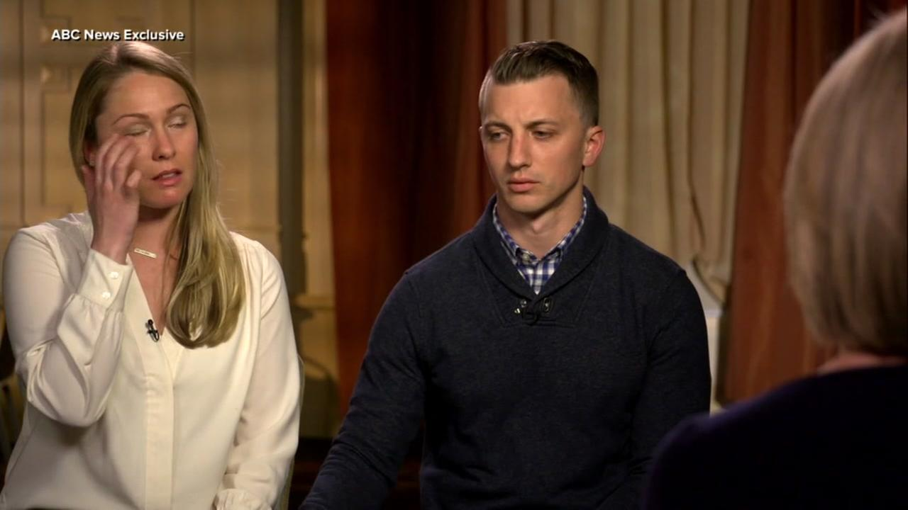 Vallejo kidnapping victims Denise Huskins and Aaron Quinn appear in this undated image from their interview with ABC News.