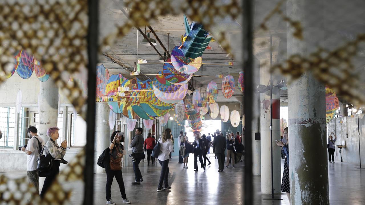 Artwork at Alcatraz