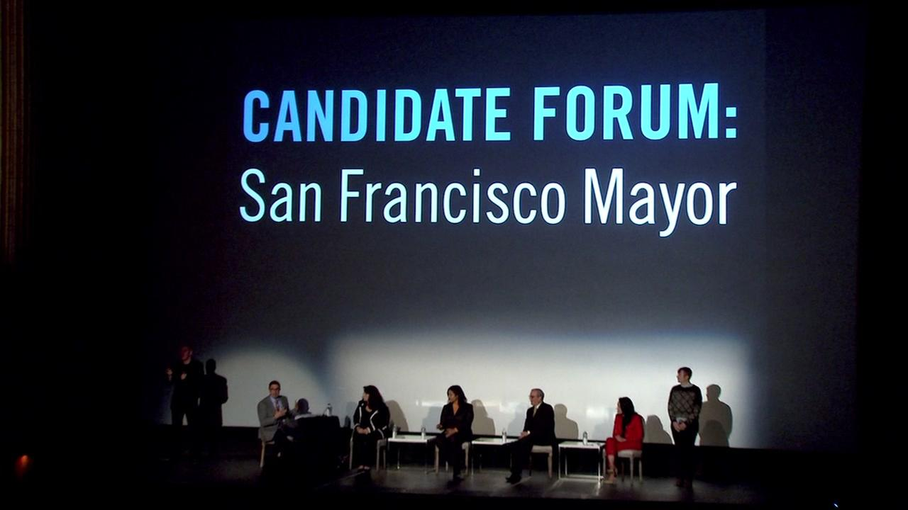 Mayoral candidates speak at a forum in San Franciscos Castro District on Monday, March 19, 2018.