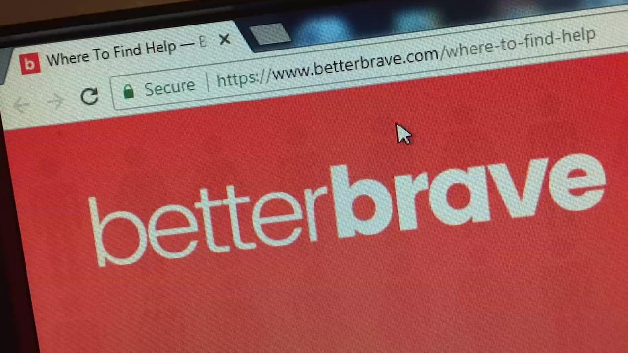 The Better Brave website is seen in this undated image.