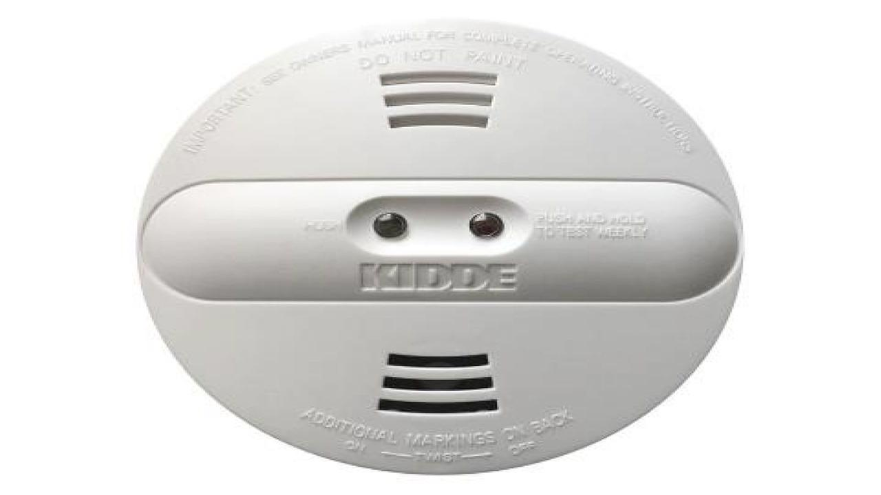 This is an undated image of a Kidde smoke alarm.