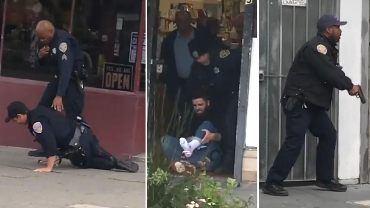 A San Francisco police officer and several others were hurt in a shooting at a barber shop on Wednesday, March 21, 2018.