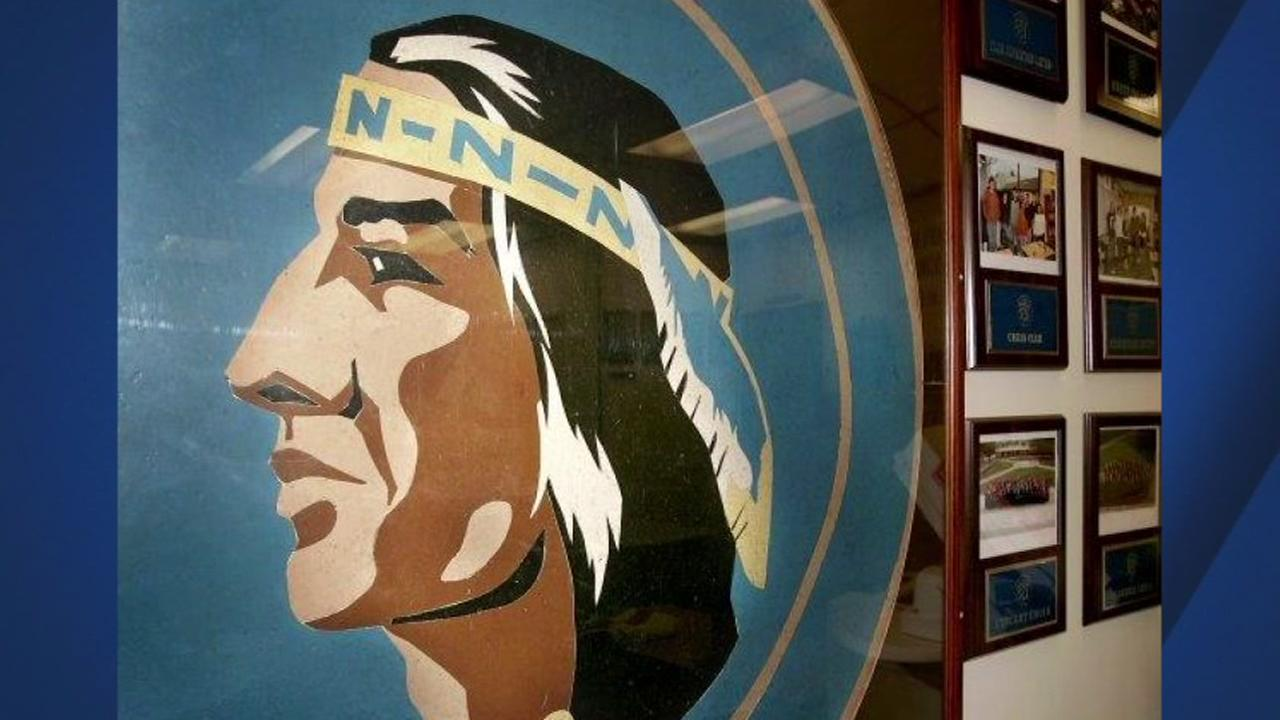 The Napa Indian mascot appears in Napa, Calif. on Thursday, March 22, 2018.