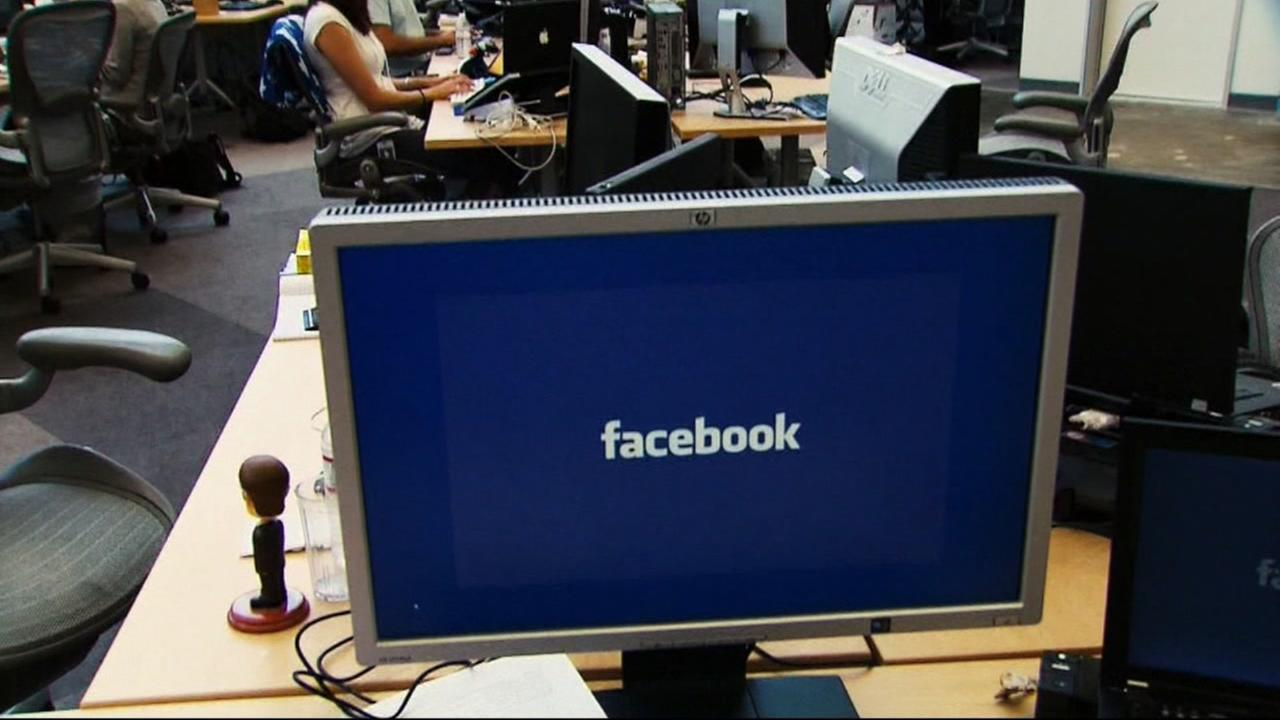 This is an undated image of a monitor showing Facebook.