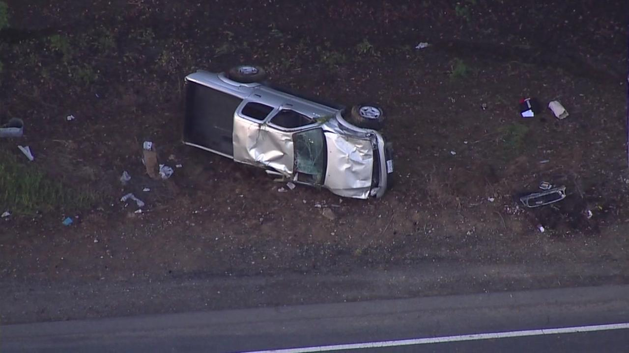 Sky7 over crash in Concord, California on Tuesday, March 27, 2018.