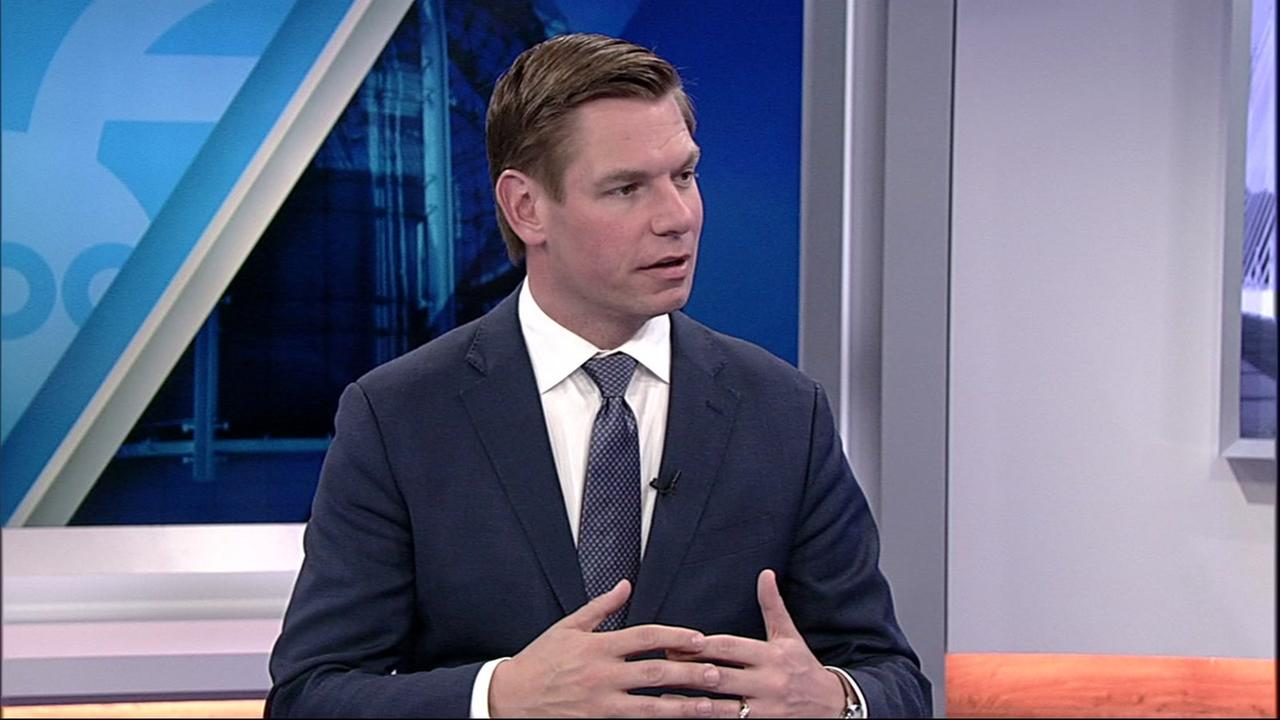Congressman Eric Swalwell spoke to ABC7 News on Wednesday, March 28, 2018.
