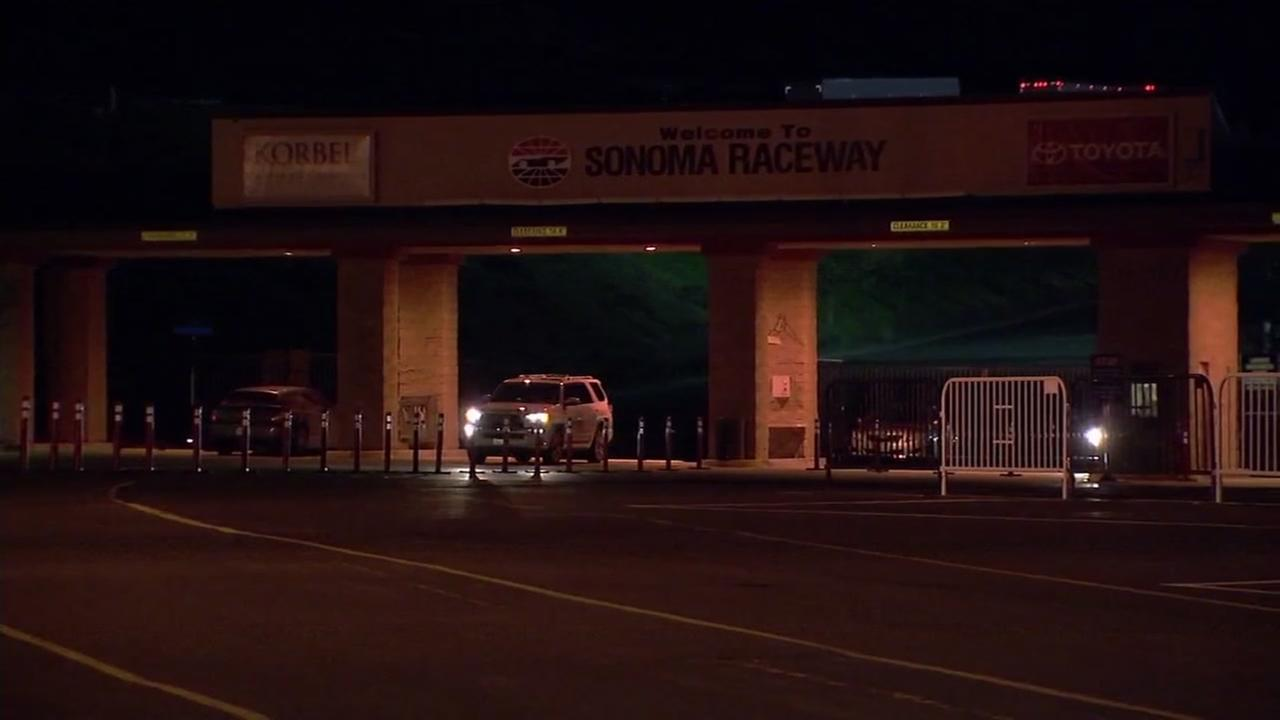 The enterance of Sonoma Raceway appears on Wednesday, March 28, 2018 after a deadly crash.