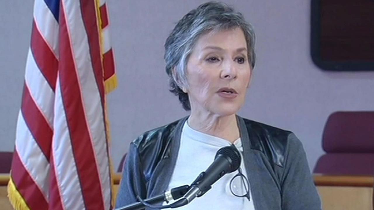 Sen. Barbara Boxer talks after tour of quake-damaged Napa.