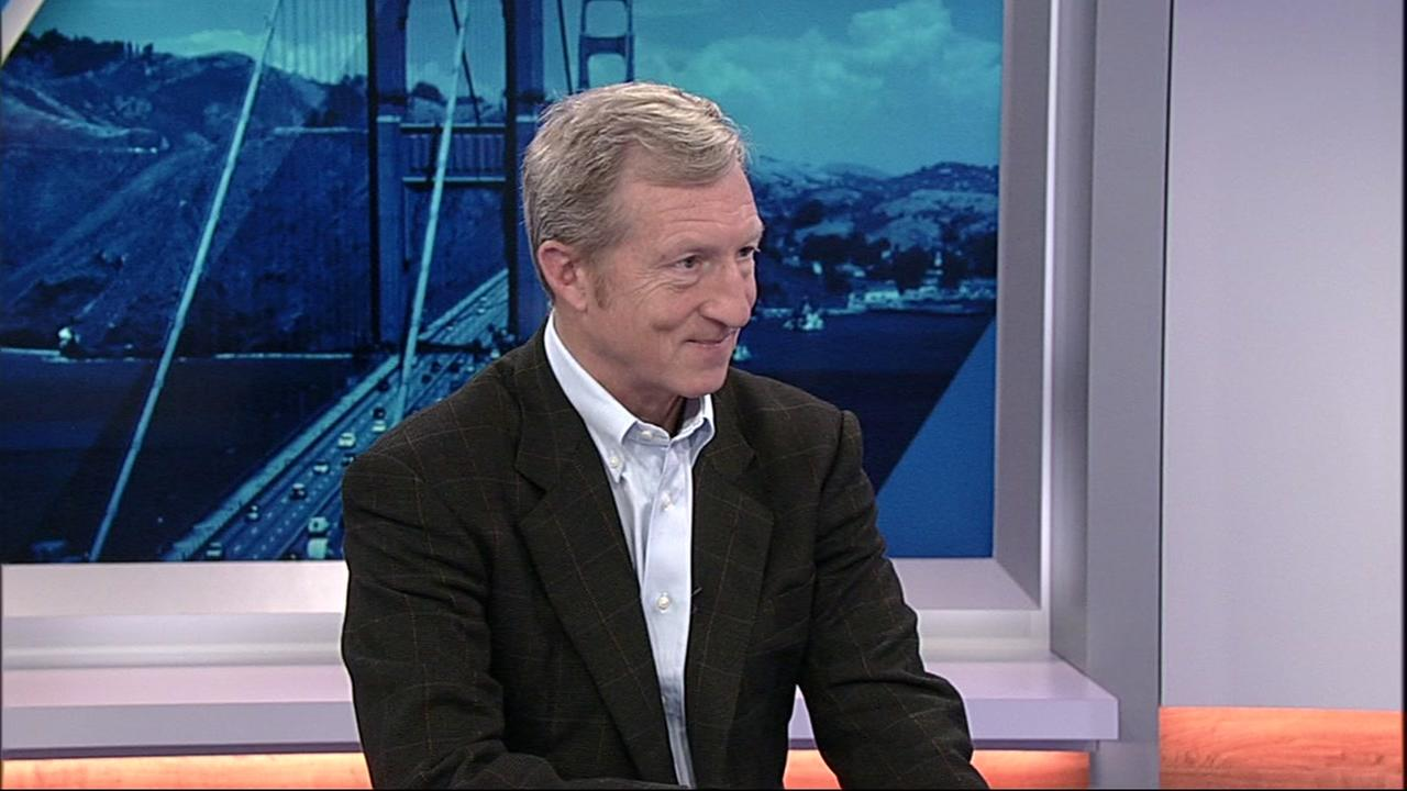 Tom Steyer talked with ABC7 News Anchor Kristen Sze on Thursday, March 29, 2018 in San Francisco.