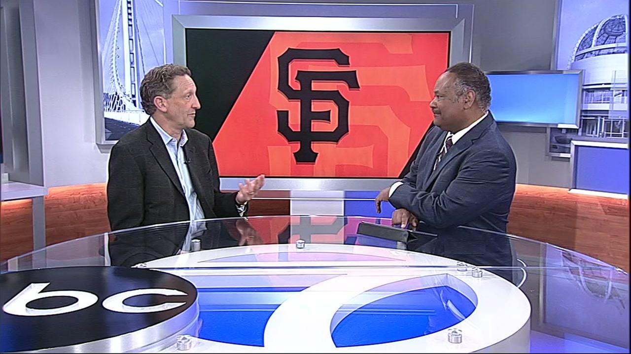 San Francisco Giants President and CEO Larry Baer visits ABC7 News on Monday, April 2, 2018.