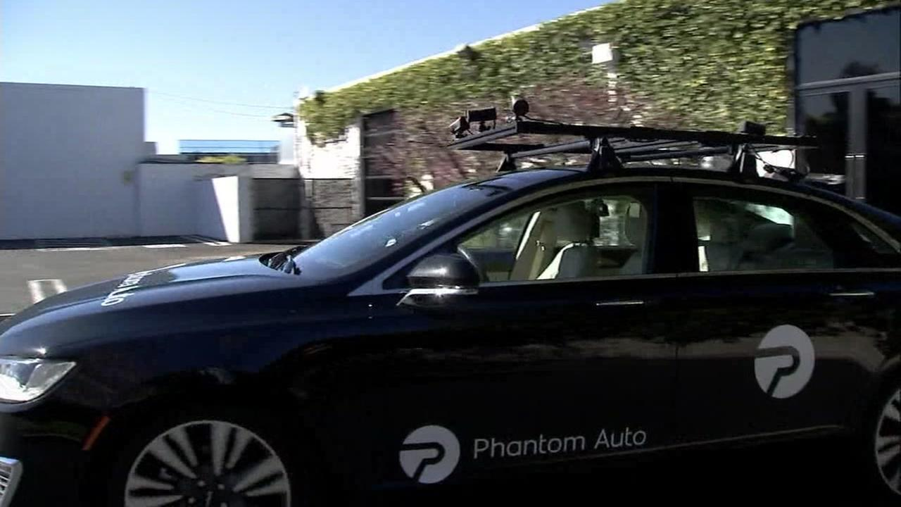 Phantom Auto demonstrates remote driving technology in Mountain View, Calif.