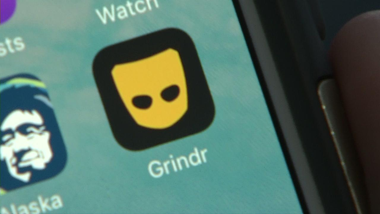 This is an undated image of the mobile dating app Grindr.