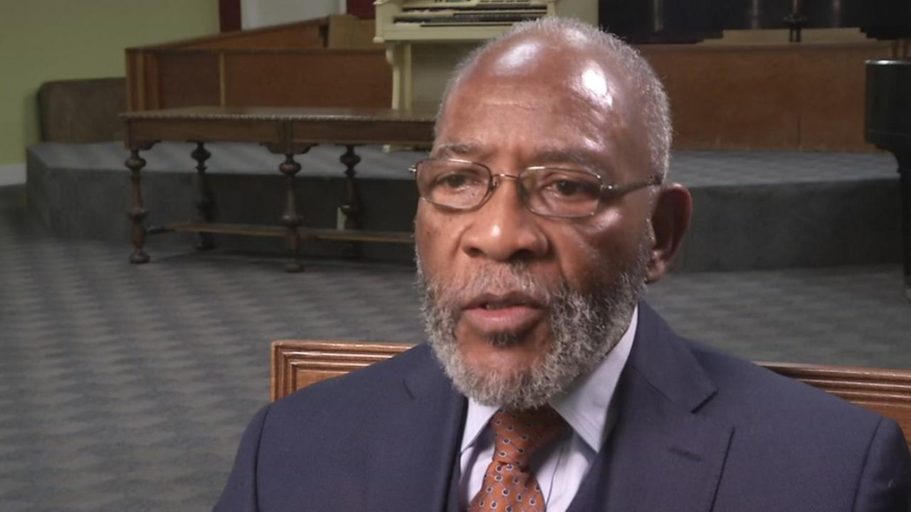 Rev. Dr. Amos Brown speaks to ABC7 News at Third Baptist Church in San Francisco on Wednesday, April 4, 2018.