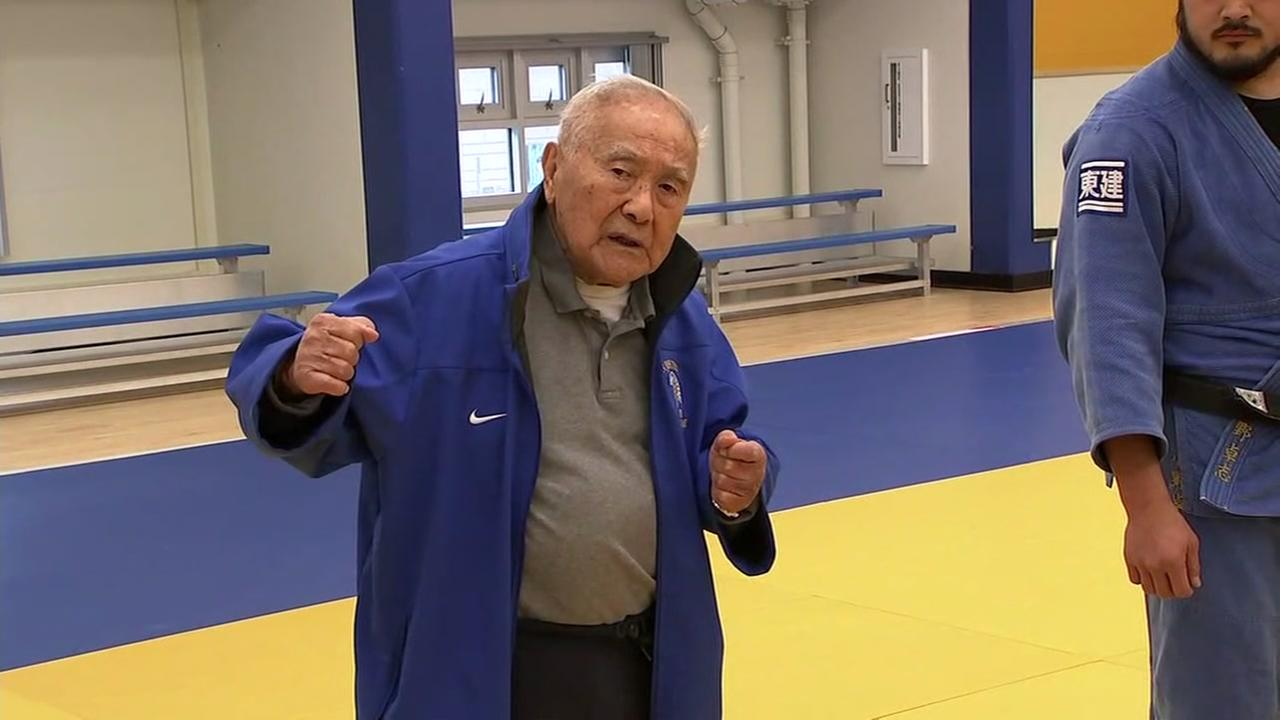 Yoshihiro Uchida leads a Judo practice at San Jose State University on Wednesday, April 4, 2018.