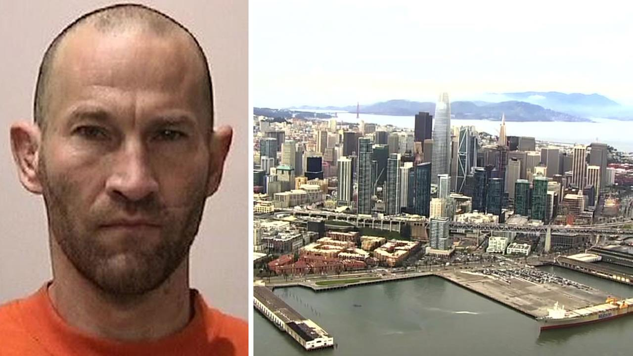 This undated image shows Dustin Hamilton. Police in San Jose, Calif. announced on April 5, 2018 that the 44-year-old threatened to shoot people in San Francisco.