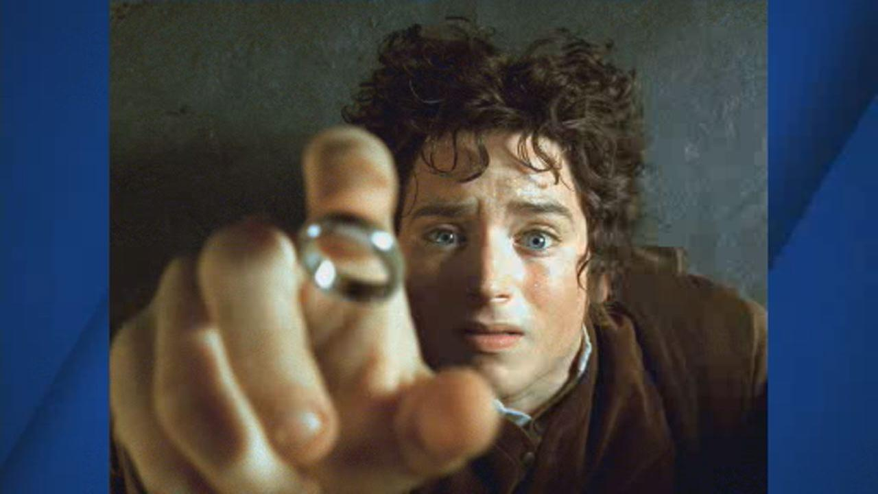 This undated image shows Elijah Wood as Frodo in scene from movie The Lord of the Rings: The Fellowship of the Ring.