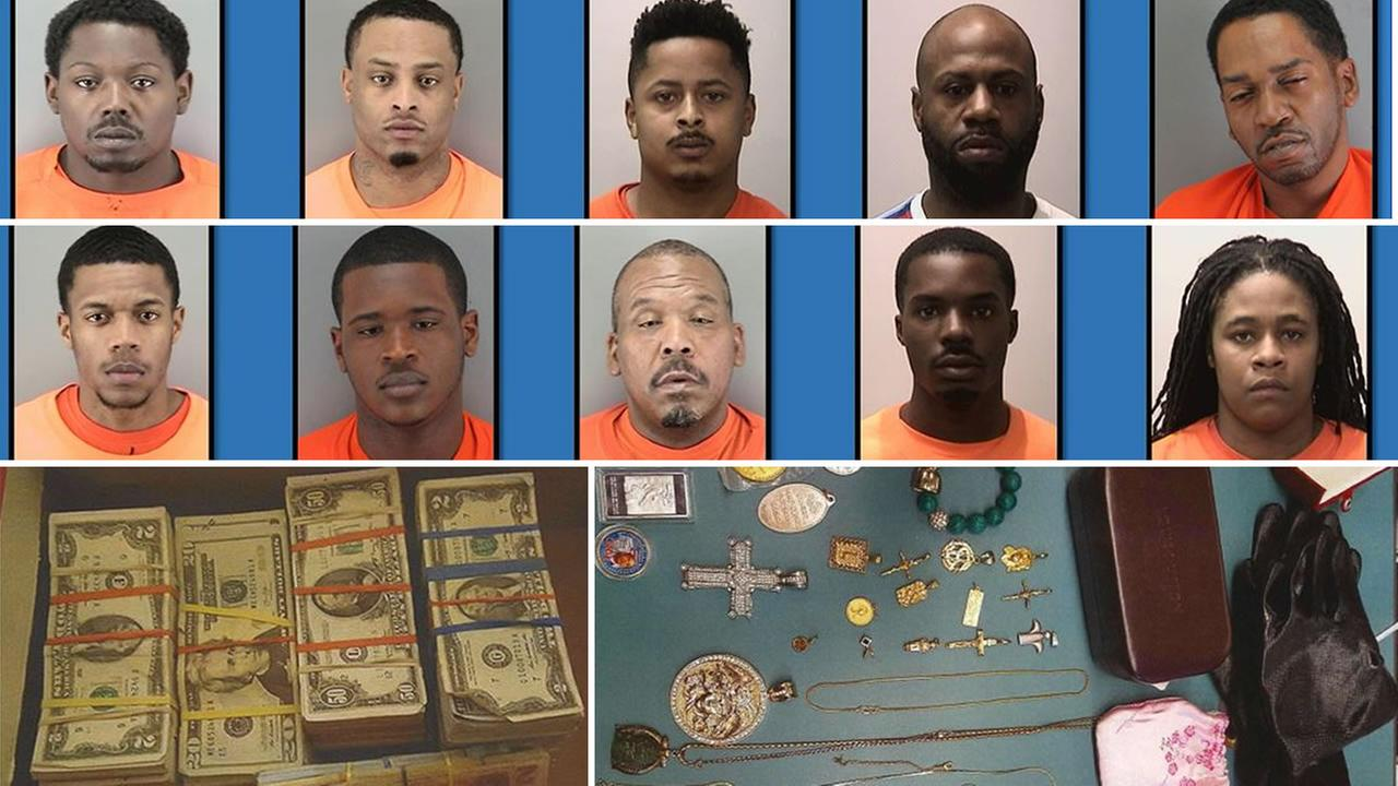 San Francisco police arrests multiple arrests connected with burglaries on Monday, April 9, 2018.