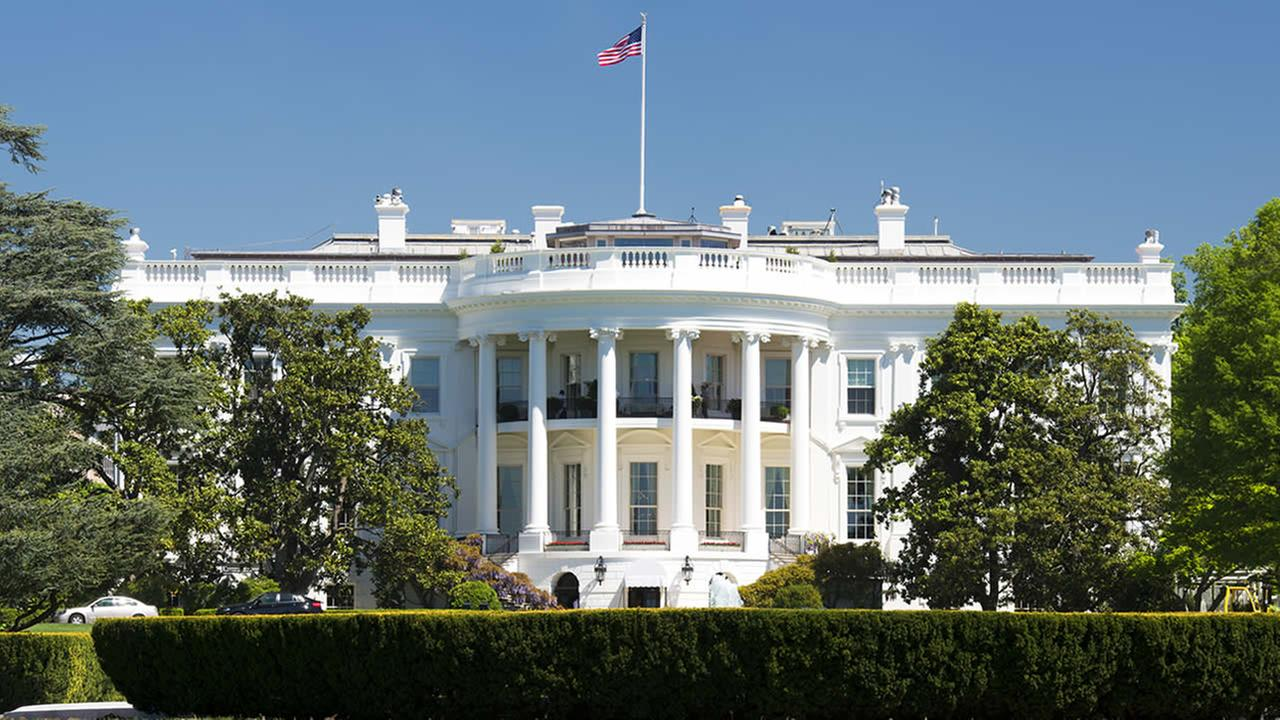 This undated image shows the White House.