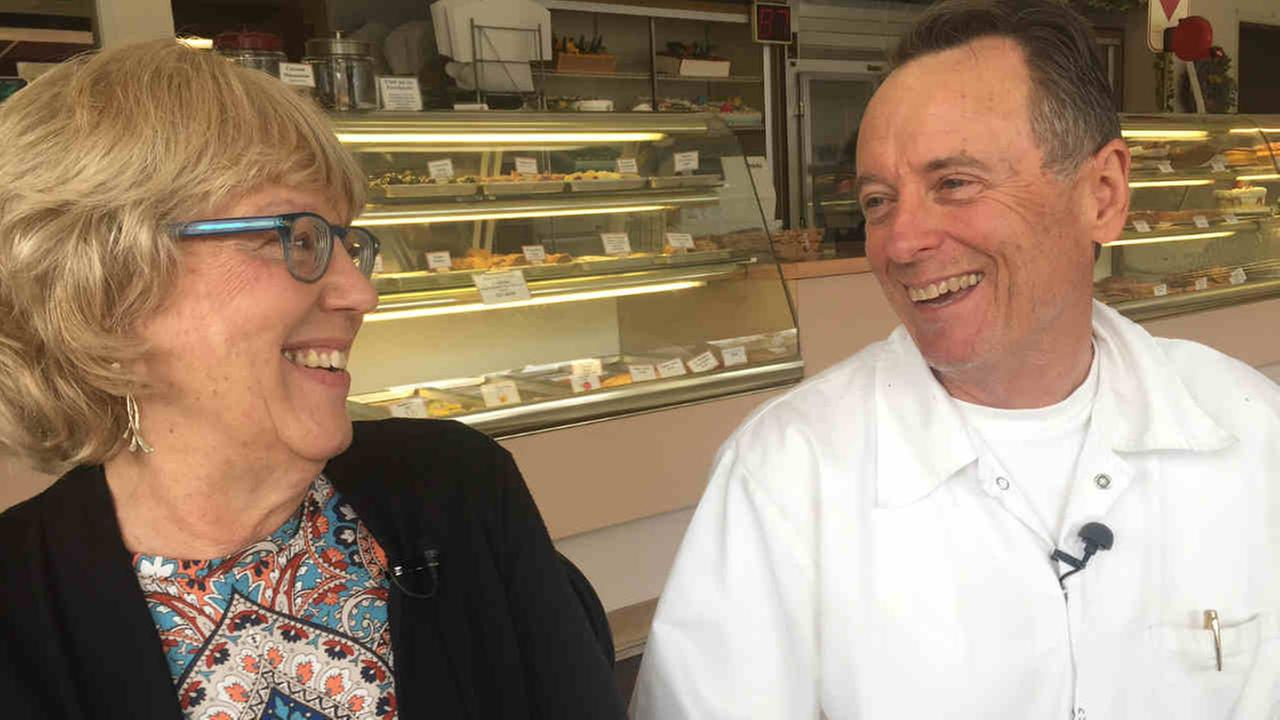 John and Anne Erdmann are seen in Virginia Bakery in Berkeley, Calif. on Tuesday, April 10, 2018.