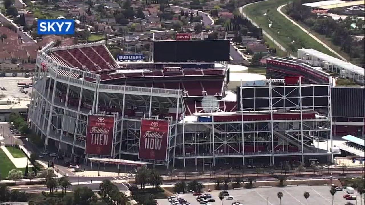 Sky7 was over Levis Stadium in Santa Clara, Calif. on Wednesday, April 11, 2018.