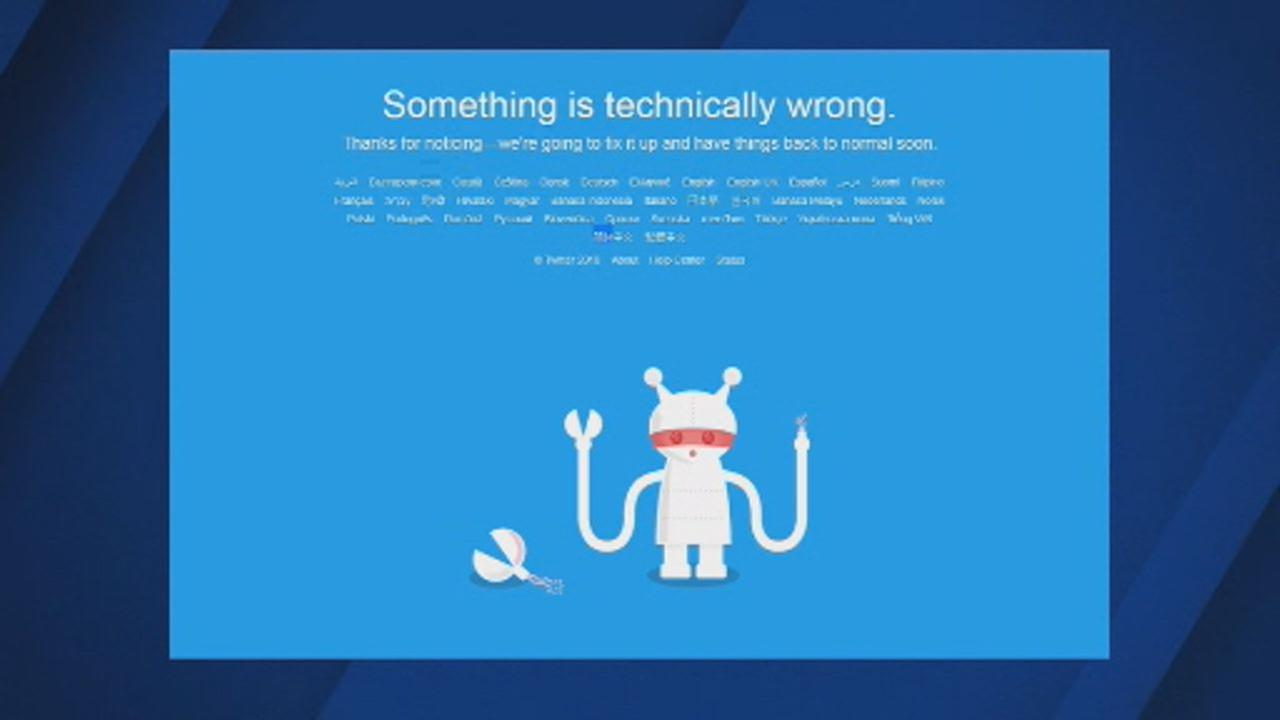 This image shows a message from Twitter, telling users something is technically wrong on April, 17, 2018,