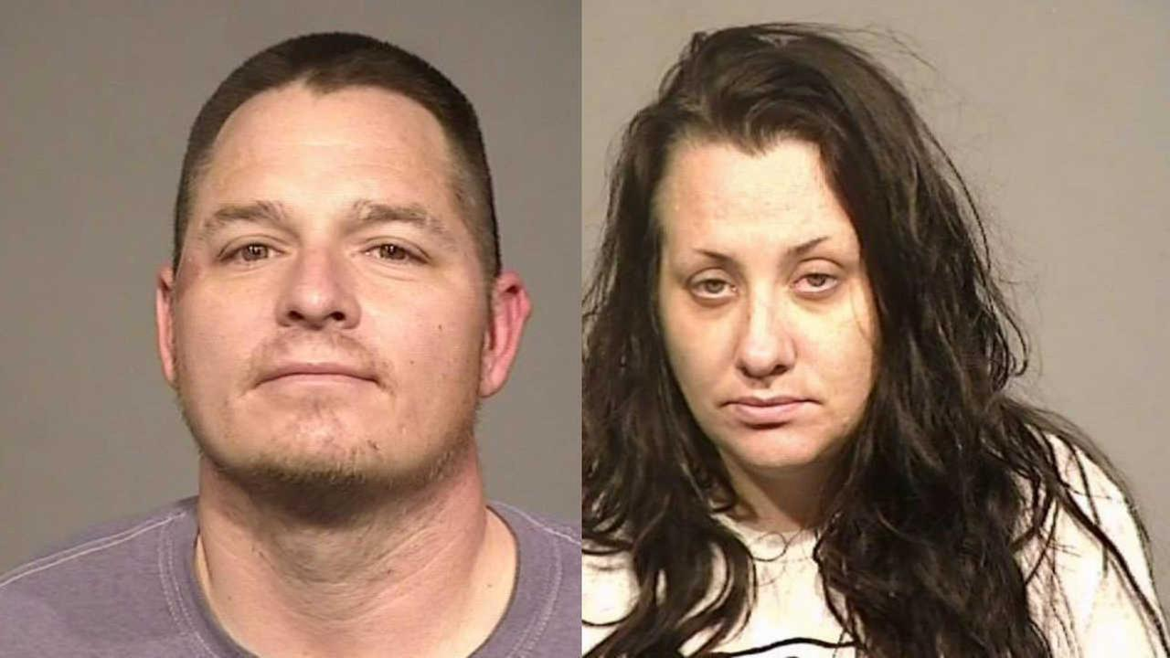 Robert Harrison and Danielle Foernsler are seen in these mugshot images taken in Petaluma, Calif. on Monday, April 16, 2018.