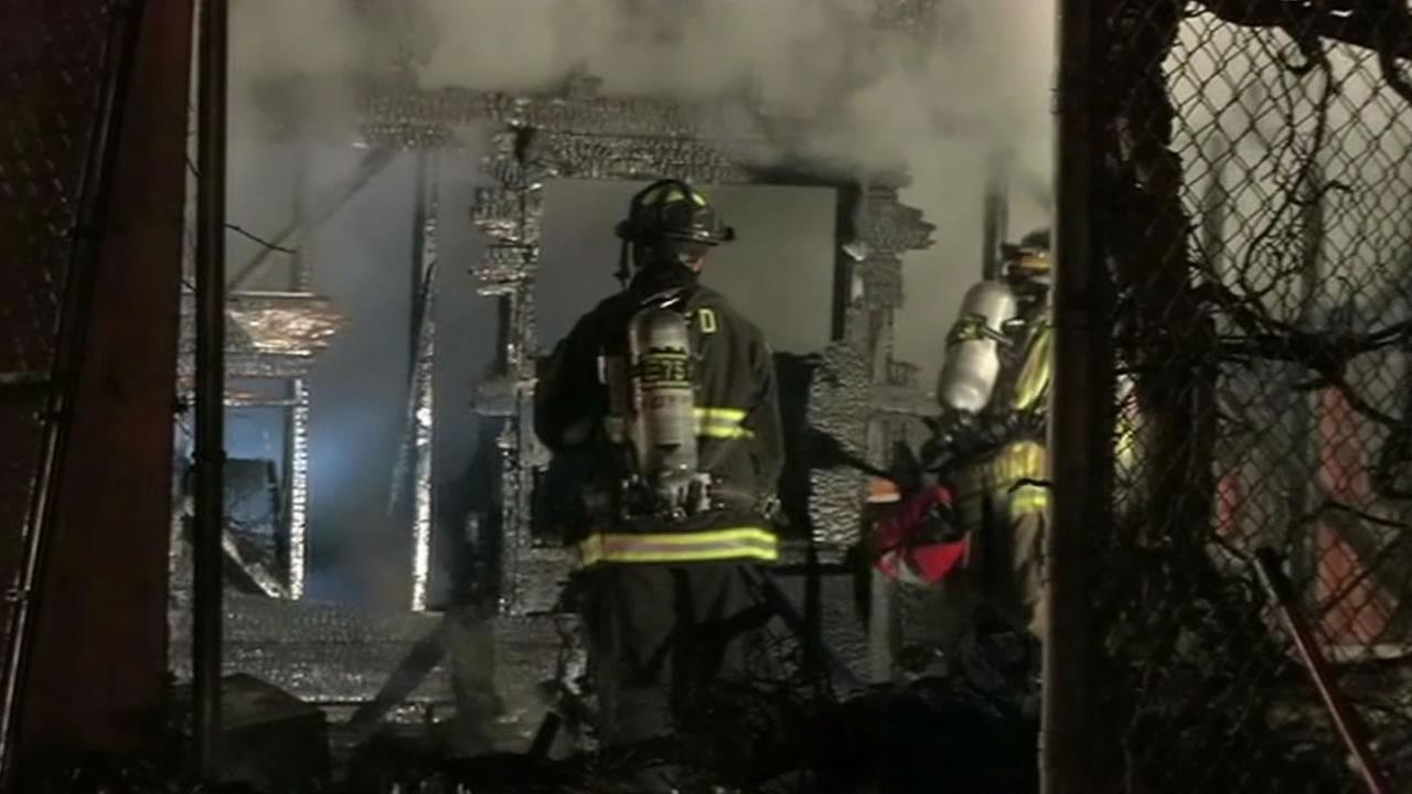 Fire at building in Rodeo.