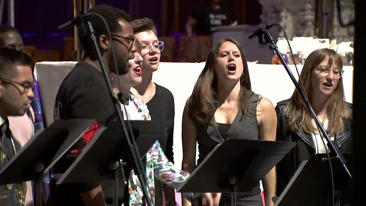 Singers at San Franciscos Grace Cathedral belt out Beyonce during a special mass on Wednesday, April 25, 2018.