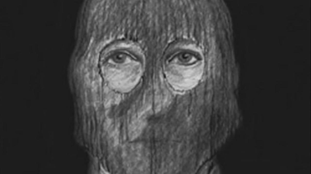 This is an undated sketch of the accused Golden State Killer.