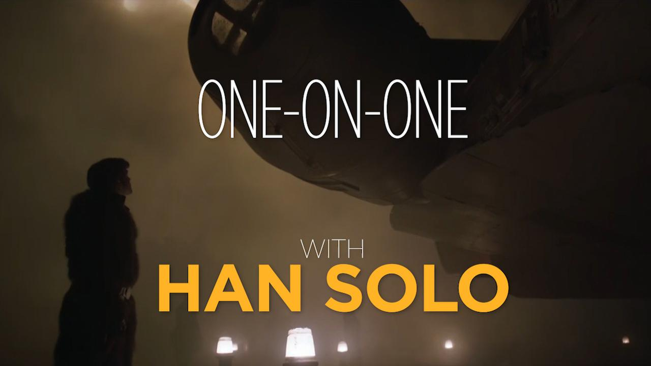 Alden Ehrenreich talks about playing Han Solo in the new Star Wars movie and the conversation he had with Harrison Ford before filming.